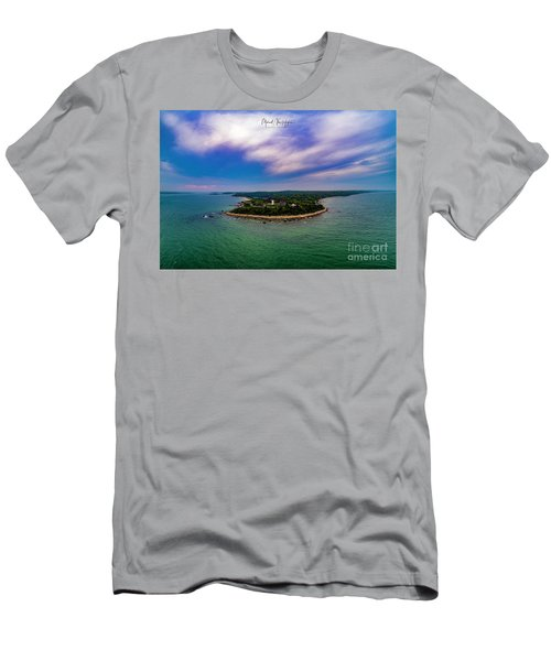 Nobska Lighthouse Panorama Men's T-Shirt (Athletic Fit)