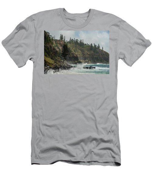Men's T-Shirt (Athletic Fit) featuring the photograph Norfolk Island Coastline 01 by Werner Padarin