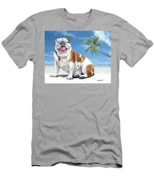 Norma Jean The Key West Puppy Men's T-Shirt (Slim Fit) by Phyllis Beiser