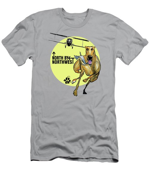 North By Northwest Greyhound Caricature Art Print Men's T-Shirt (Athletic Fit)