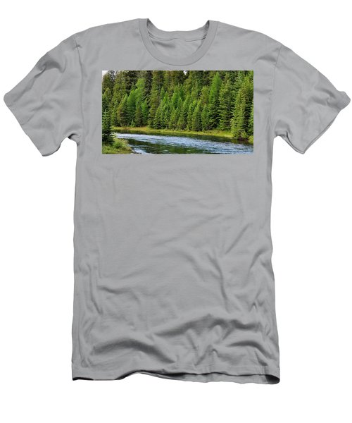North Fork Of The Flathead Men's T-Shirt (Athletic Fit)