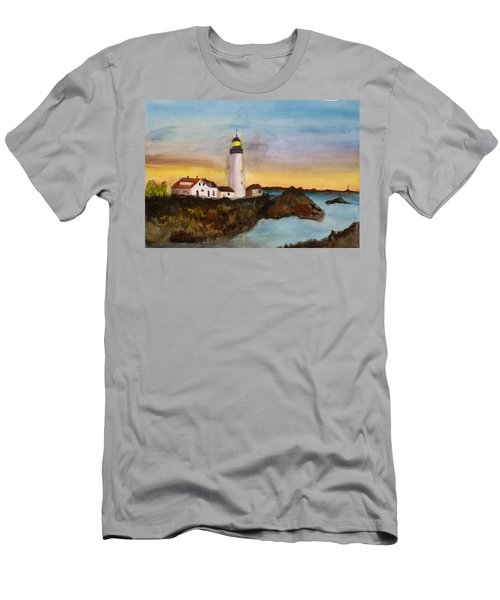 North Truro Light House Cape Cod Men's T-Shirt (Slim Fit) by Donna Walsh
