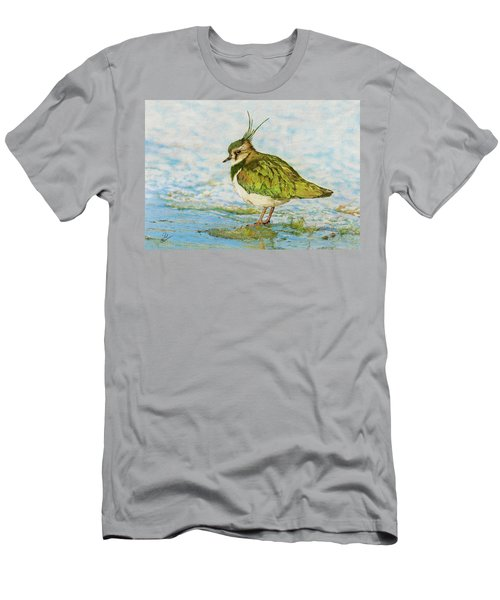 Northern Lapwing Men's T-Shirt (Slim Fit) by John Birnie