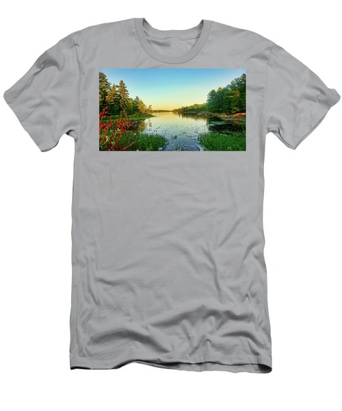 Northern Ontario Lake Men's T-Shirt (Athletic Fit)