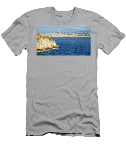 Notre Dame De La Garde Marseille  Men's T-Shirt (Athletic Fit)