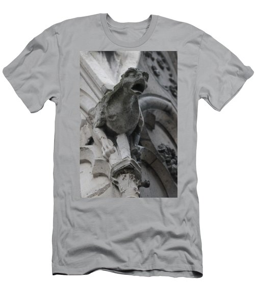 Notre Dame Gargoyle Grotesque Men's T-Shirt (Slim Fit) by Christopher Kirby