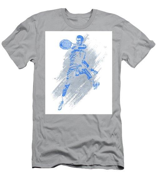 Novak Djokovic Tennis Water Color Art 1 Men's T-Shirt (Athletic Fit)