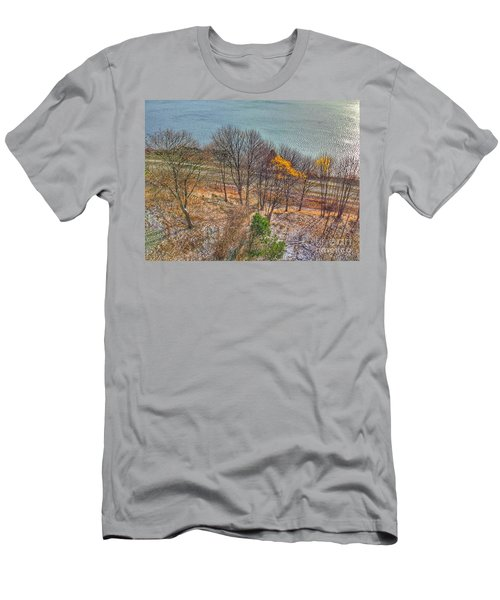 November Snow On Casco Bay Men's T-Shirt (Athletic Fit)
