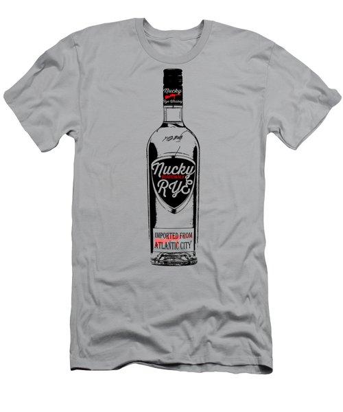 Nucky Thompson Boardwalk Rye Whiskey Tee Men's T-Shirt (Slim Fit) by Edward Fielding
