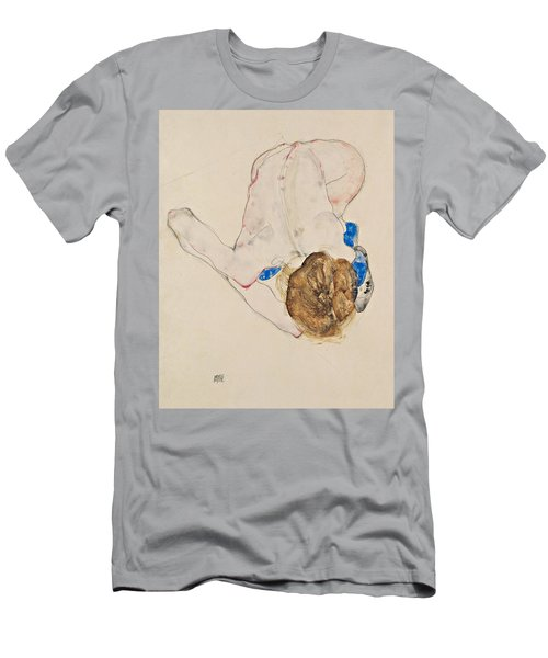 Nude With Blue Stockings, Bending Forward Men's T-Shirt (Athletic Fit)