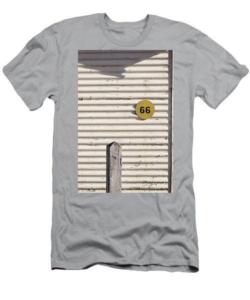 Men's T-Shirt (Slim Fit) featuring the photograph Number 66 by Linda Lees