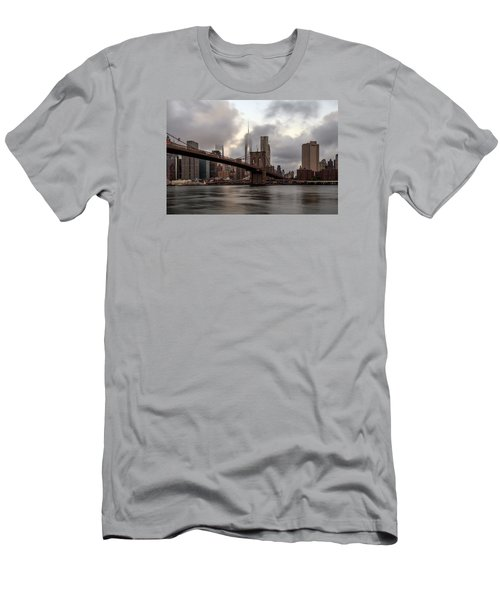 Men's T-Shirt (Slim Fit) featuring the photograph Nyc In The Am by Anthony Fields