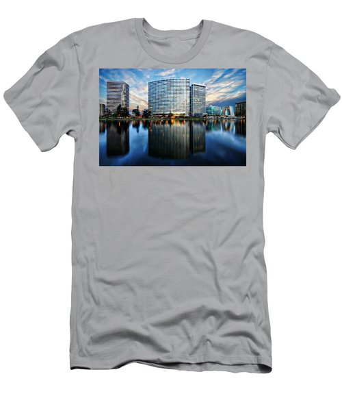 Men's T-Shirt (Athletic Fit) featuring the photograph Oakland, California Cityscape by Anthony Dezenzio