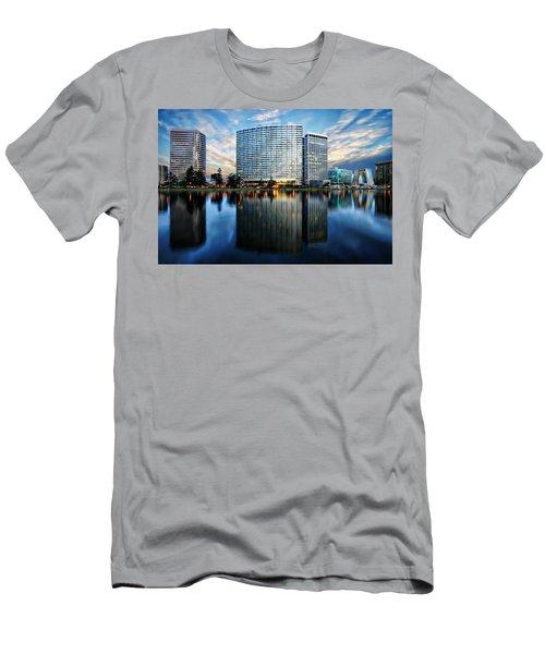 Oakland, California Cityscape Men's T-Shirt (Athletic Fit)