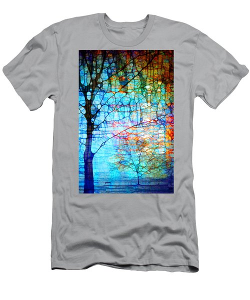 Obscured In Blue Men's T-Shirt (Athletic Fit)
