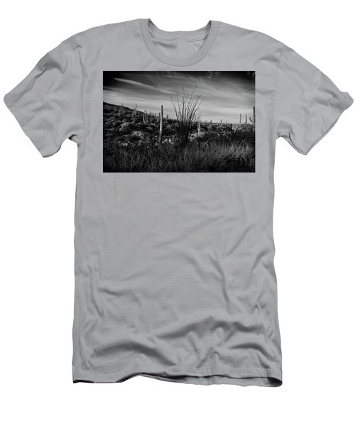 Ocotillo And Saguaros Men's T-Shirt (Athletic Fit)