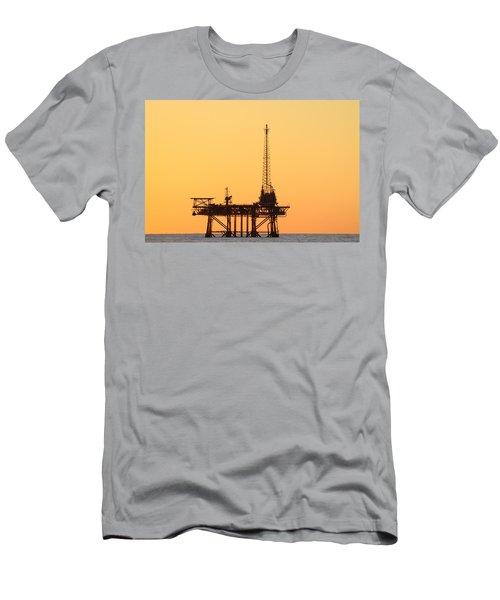 Offshore Oil And Gas Platform  Men's T-Shirt (Athletic Fit)
