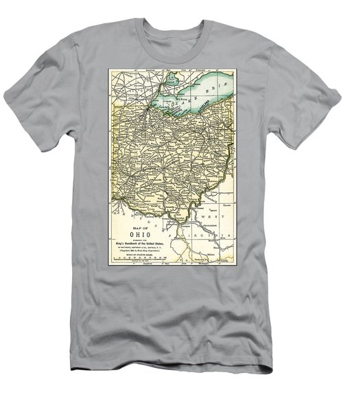 Ohio Antique Map 1891 Men's T-Shirt (Athletic Fit)