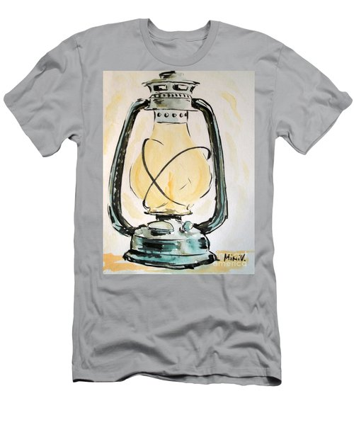 Men's T-Shirt (Athletic Fit) featuring the painting Oil Lamp by Maria Langgle