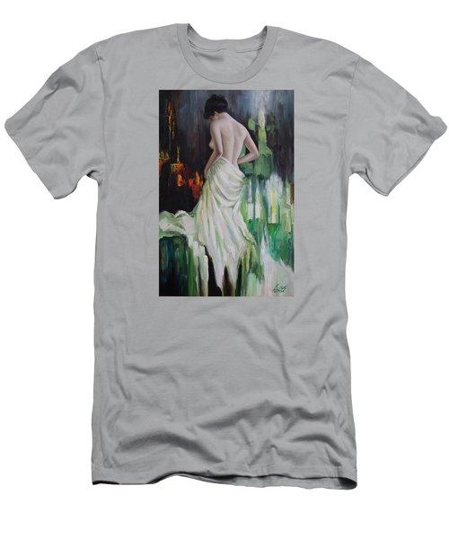 Oil Msc 016 Men's T-Shirt (Slim Fit) by Mario Sergio Calzi
