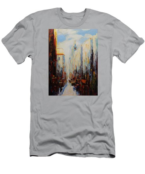 Oil Msc 059 Men's T-Shirt (Slim Fit) by Mario Sergio Calzi