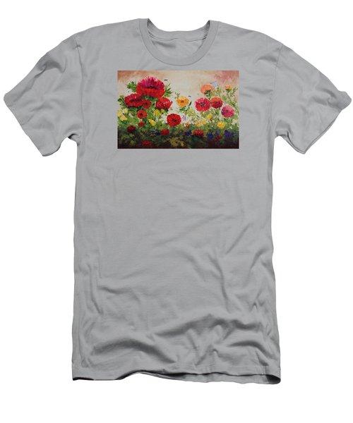 Oil Msc 060 Men's T-Shirt (Slim Fit) by Mario Sergio Calzi