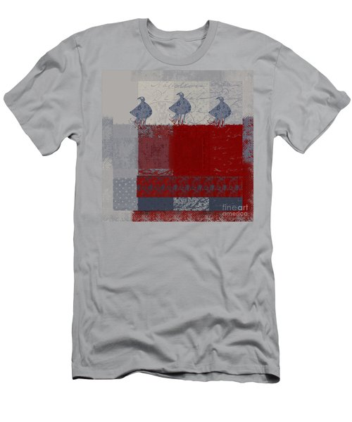Men's T-Shirt (Slim Fit) featuring the digital art Oiselot - J106161103_02bb by Variance Collections