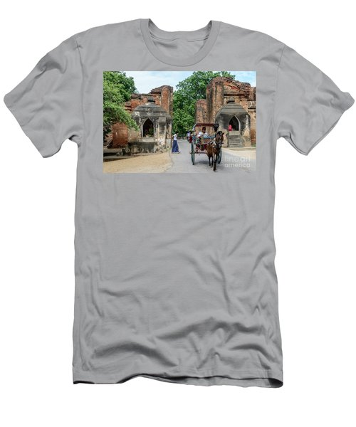 Old Bagan Men's T-Shirt (Slim Fit) by Werner Padarin