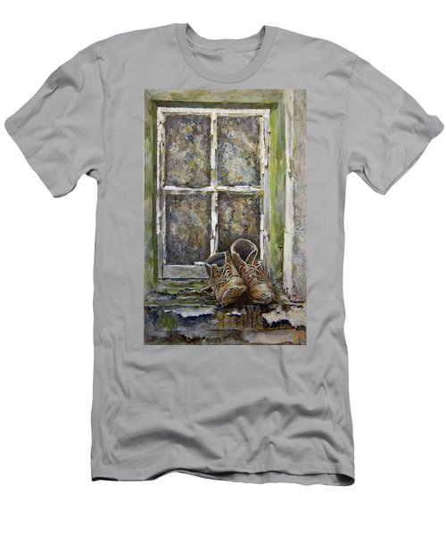 Old Boots Men's T-Shirt (Slim Fit) by Marty Garland