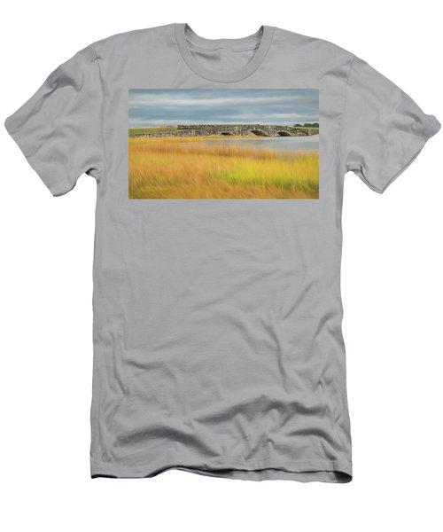 Old Bridge In Autumn Men's T-Shirt (Athletic Fit)
