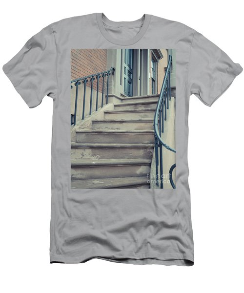 Old Brownstone Staircase Men's T-Shirt (Athletic Fit)