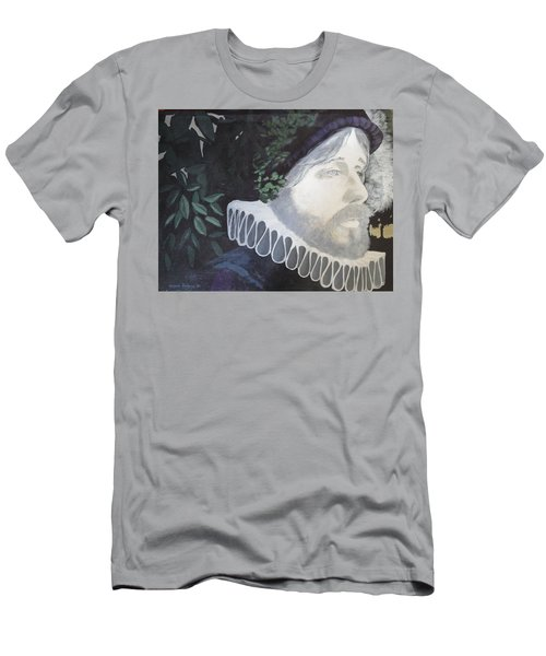 Men's T-Shirt (Slim Fit) featuring the painting Old Englishman by Bernard Goodman