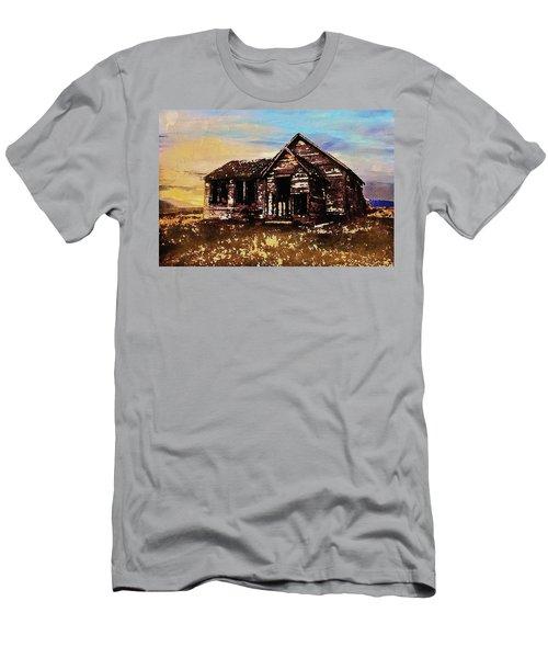 Men's T-Shirt (Athletic Fit) featuring the digital art Old Farmhouse by PixBreak Art