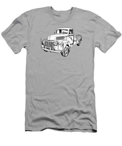 Old Flat Bed Ford Work Truck Illustration Men's T-Shirt (Athletic Fit)