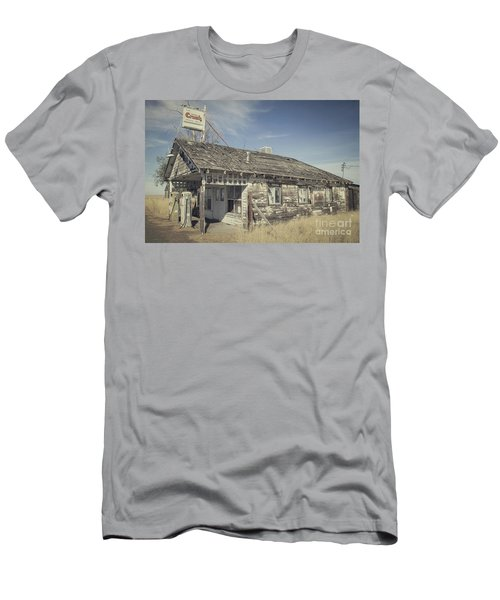 Old Gas Station Men's T-Shirt (Slim Fit) by Robert Bales