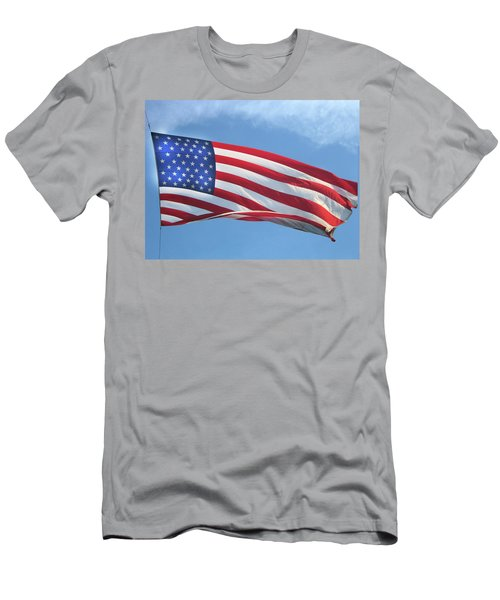 Old Glory Never Fades Men's T-Shirt (Athletic Fit)