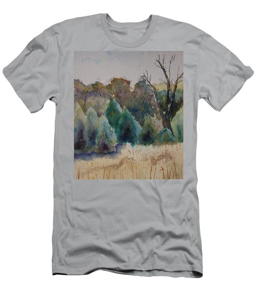 Men's T-Shirt (Slim Fit) featuring the painting Old Growth Forest by Patsy Sharpe