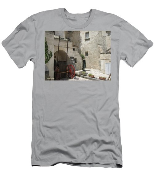 Old Horsecart In Matera Men's T-Shirt (Athletic Fit)