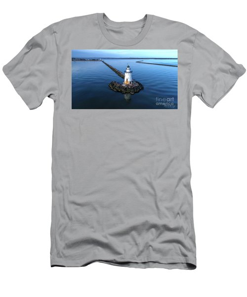 Old Saybrook Outer Lighthouse Men's T-Shirt (Athletic Fit)