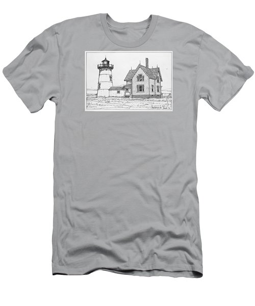 Old Stage Harbor Lighthouse Cape Cod Men's T-Shirt (Athletic Fit)
