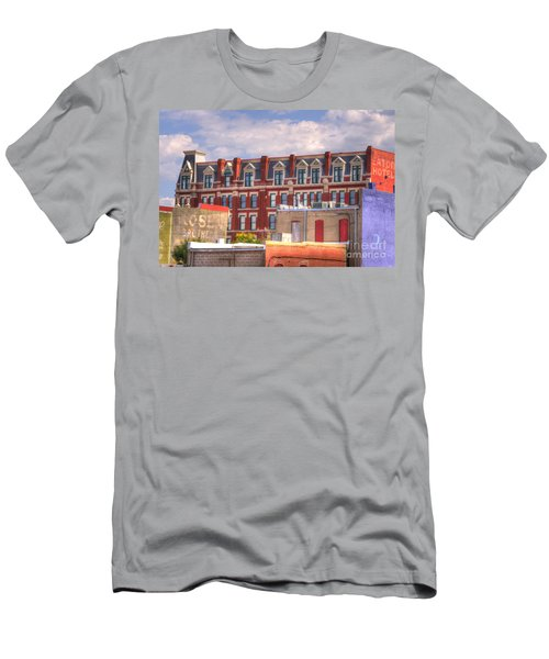 Old Town Wichita Kansas Men's T-Shirt (Slim Fit) by Juli Scalzi