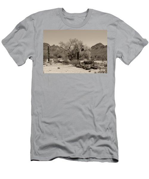 Old Tucson Landscape  Men's T-Shirt (Athletic Fit)