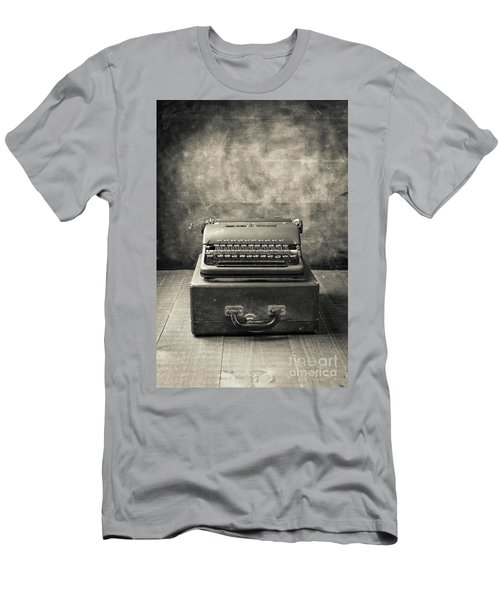 Men's T-Shirt (Athletic Fit) featuring the photograph Old Vintage Typewriter  by Edward Fielding