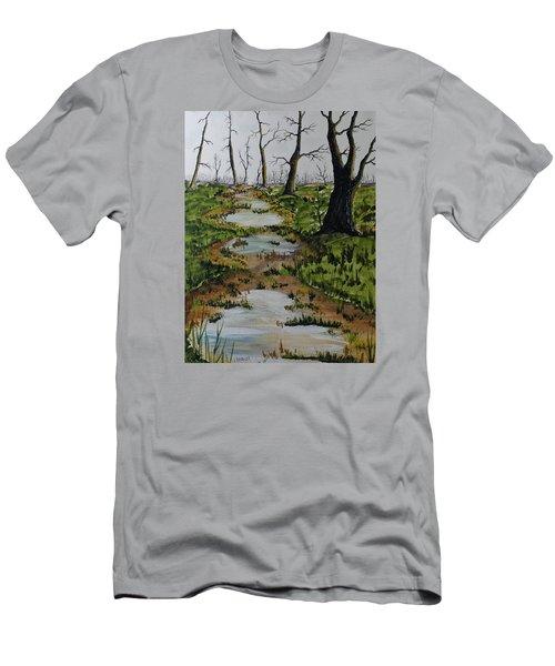Old Walking Trail Men's T-Shirt (Slim Fit) by Jack G  Brauer