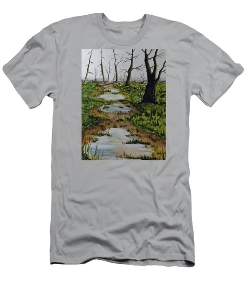 Old Walking Trail Men's T-Shirt (Athletic Fit)