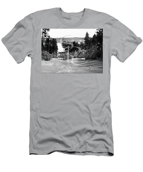 Men's T-Shirt (Athletic Fit) featuring the photograph Olympia Country Club 18th Hole by Merle Junk
