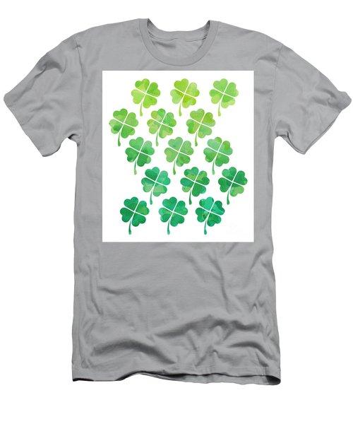 Ombre Shamrocks Men's T-Shirt (Slim Fit) by Whitney Morton