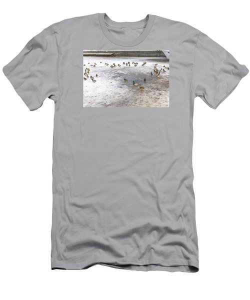 On Ice  Men's T-Shirt (Slim Fit) by Leif Sohlman