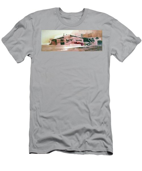 Men's T-Shirt (Slim Fit) featuring the painting On The Ranch by Ed Heaton