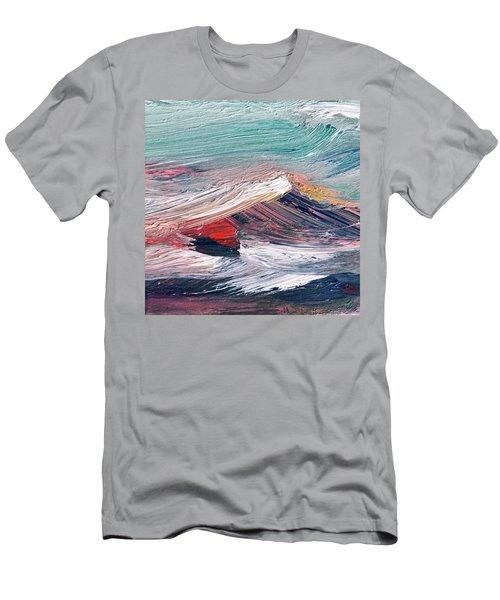 Wave Mountain Men's T-Shirt (Athletic Fit)